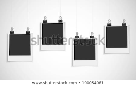 Photo frames on rope Stock photo © Hermione