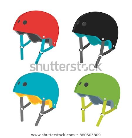 скейтборде · велосипед · шлема · скейтбординга · верховая · езда · белый - Сток-фото © nikitabuida
