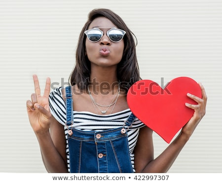 Сток-фото: красивой · красный · девушки · черный · женщину