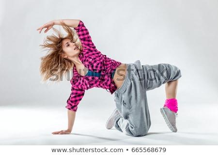 женщины · Хип-Хоп · танцовщицы · Cool · молодые · белый - Сток-фото © nikitabuida
