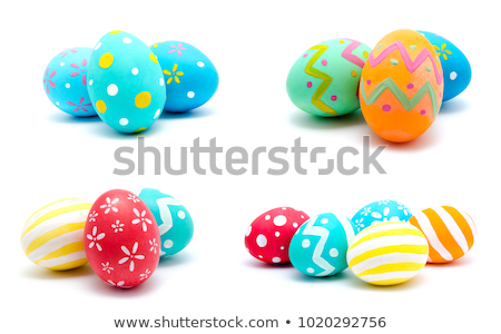 Seis huevos de Pascua Foto simple decorado Foto stock © jirisolecito
