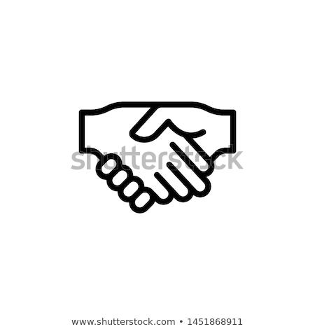 Homme · handshake · eps10 · isolé · blanche · affaires - photo stock © marish