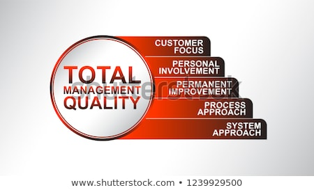 Acronym of TQM for total quality management Stock photo © bbbar