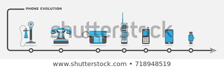 Telefonu ewolucji kolekcja telefony odizolowany biały Zdjęcia stock © romvo