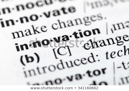 Innovation-Dictionary definition stock photo © chris2766