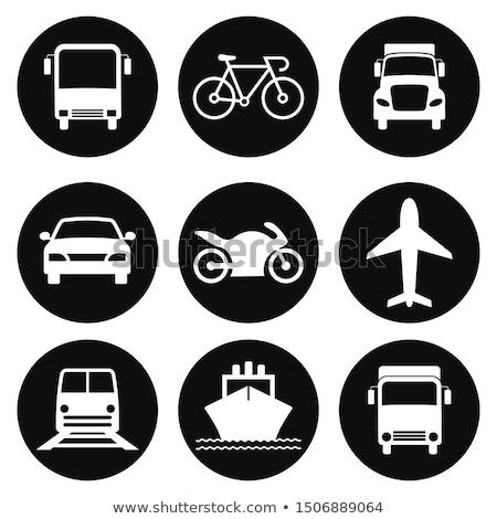 út szállítás szimbólum házhozszállítás terv furgon Stock fotó © oxygen64