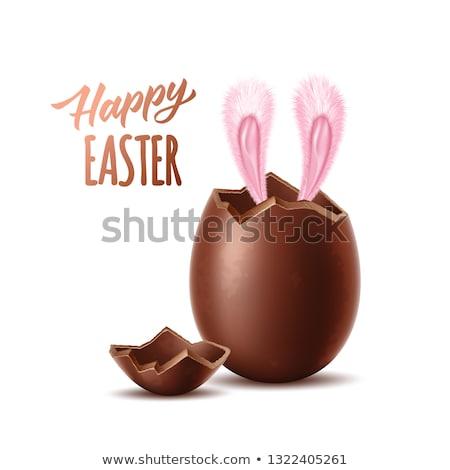 шоколадом Пасху заяц яйца белый Сток-фото © ivonnewierink