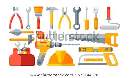 Stockfoto: Tools · groot · pagina · witte · werk · groene