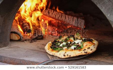 pizza · tuğla · fırın · pizzacı · restoran - stok fotoğraf © kokimk