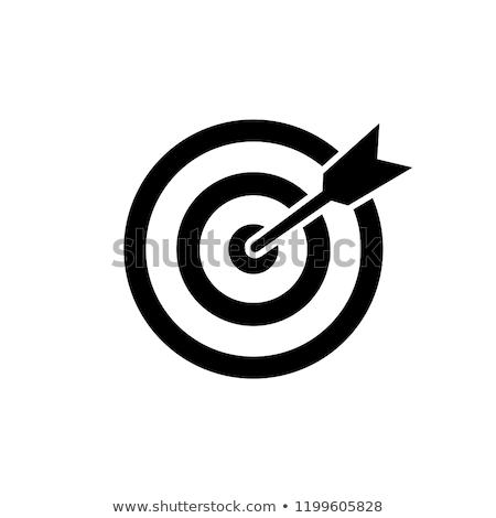 darts · cél · izolált · fehér · kék · piros - stock fotó © dengess