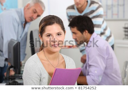 Colleagues surrounded by file folders Stock photo © photography33