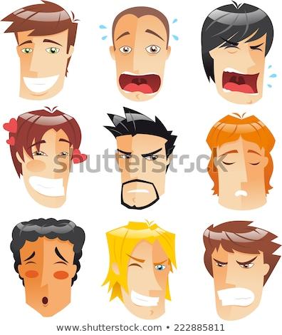 выразительный человека лице оранжевый думать сердиться Сток-фото © photography33
