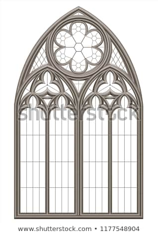 Gothic ingresso sezione vecchio metal porta Foto d'archivio © sumners