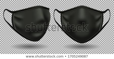 Stok fotoğraf: Siyah · maske · resim · seksi · bayan · kırmızı