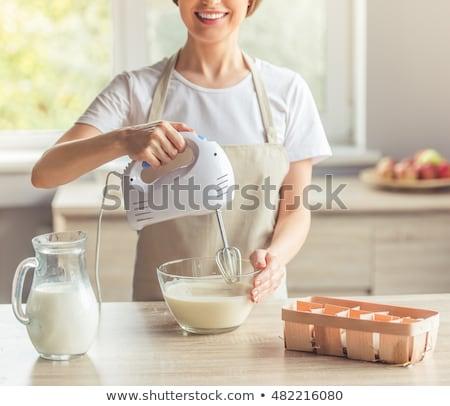 Foto stock: Eléctrica · mezclador · cocina · jóvenes · estudio