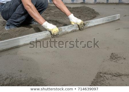 umido · concrete · texture · mano · costruzione - foto d'archivio © photography33