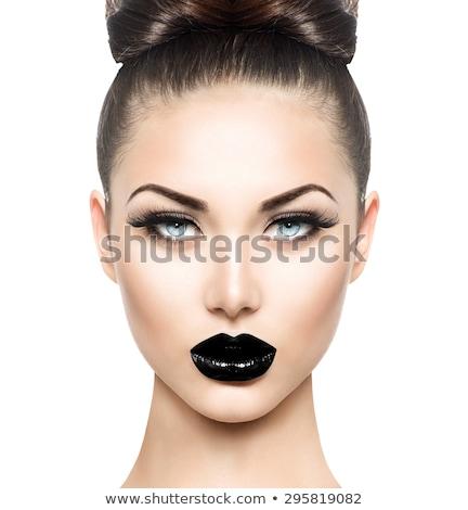 Gotik model aşırı portre genç Stok fotoğraf © curaphotography