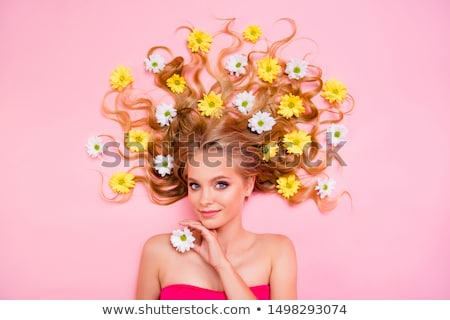 bautiful smiling woman lying down for spa treatment stock photo © get4net