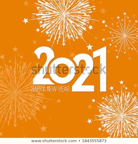 Nieuwjaar kaart mooie kleur decoraties achtergrond Stockfoto © Elmiko