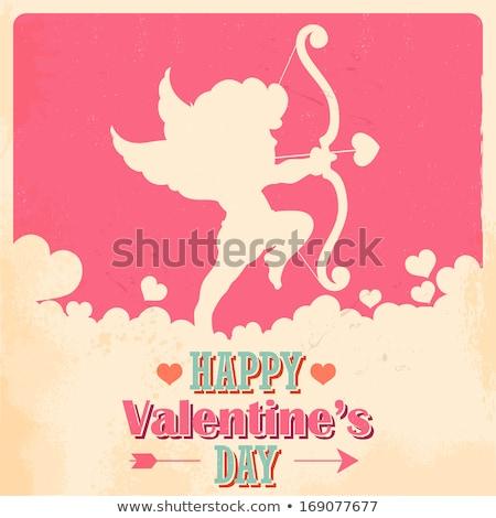 Feliz dia dos namorados cartão modelo mulher Foto stock © thecorner