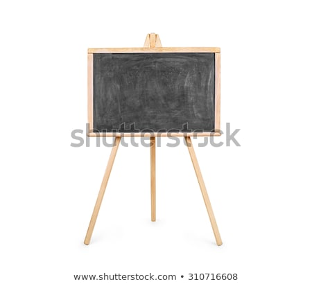 An isolated shot of a blank chalkboard on an easel.  Stock photo © inxti