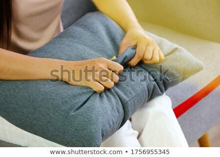 Paciente não impaciente mão palavra vermelho Foto stock © ivelin