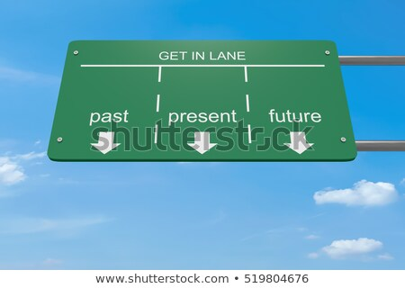 Stok fotoğraf: Road Sign With Word Opportunity Green