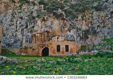 православный · Церкви · интерьер · Греция · древесины · пейзаж - Сток-фото © sophie_mcaulay