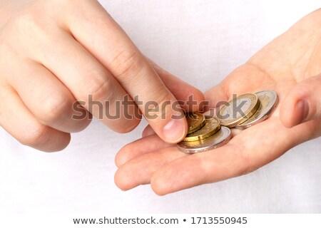 Utolsó Euro férfi érme pénztárca mutat Stock fotó © Stocksnapper