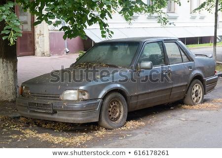Velho carros carro reciclagem metal indústria Foto stock © photochecker