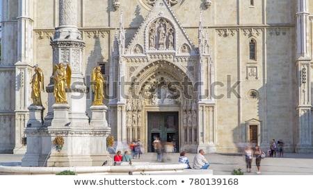 вход Загреб собора город солнце синий Сток-фото © deymos