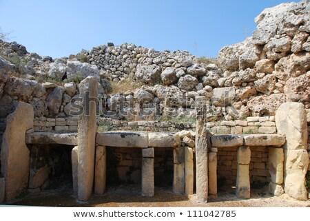 Ggantija temple remains in Gozo Stock photo © ElinaManninen