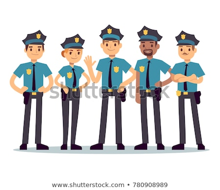 Policier cute heureux cartoon personnage Photo stock © indiwarm