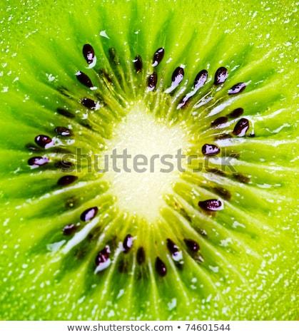 közelkép · egészséges · kiwi · gyümölcs · étel · zöld - stock fotó © Kesu