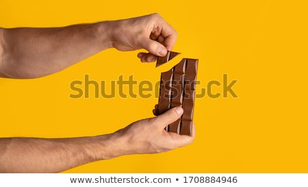 шоколадом · 3d · визуализации · Бар · изолированный · белый · конфеты - Сток-фото © Florisvis