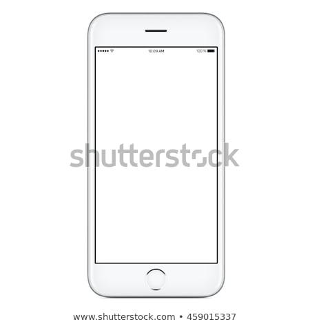 Yalıtılmış beyaz odak telefon Stok fotoğraf © snyfer