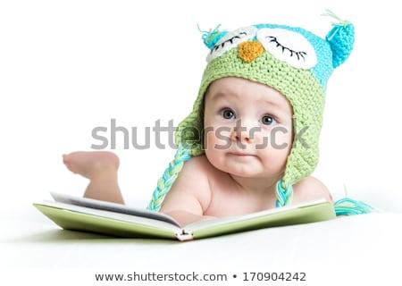peu · fille · lecture · livre · haut - photo stock © paha_l