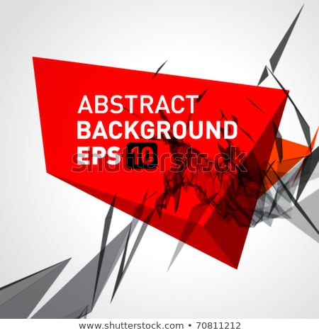 abstract red 3d background eps 10 stock photo © beholdereye