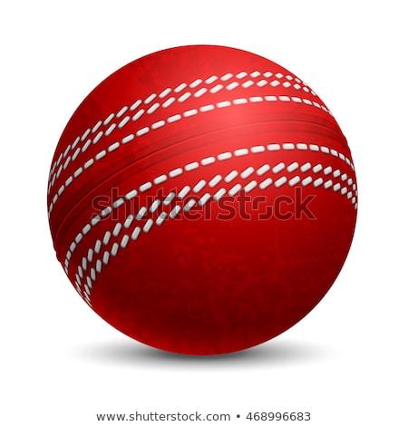 クリケット ボール 赤 アップ 空気 ストックフォト © Sportlibrary