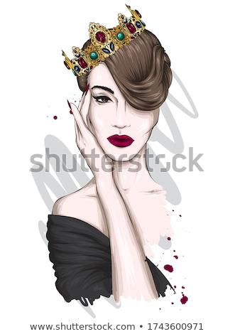 美人 · フル · 化粧 · 肖像 · 若い女性 · プロ - ストックフォト © rognar