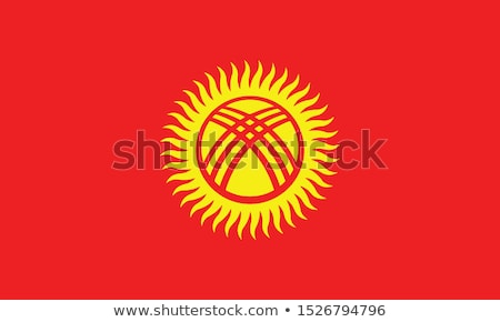Knop Kirgizië kaart land kaarten banner Stockfoto © Ustofre9
