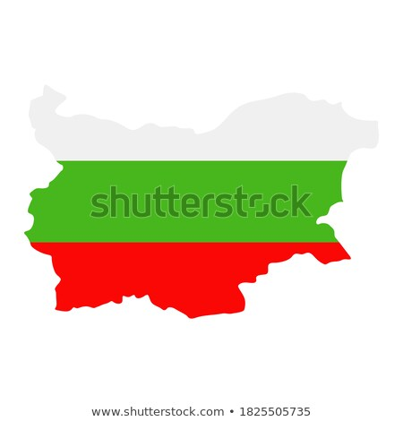 map of bulgaria filled with flag stock photo © michaklootwijk
