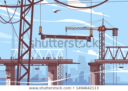 process of bridge construction stock photo © aikon