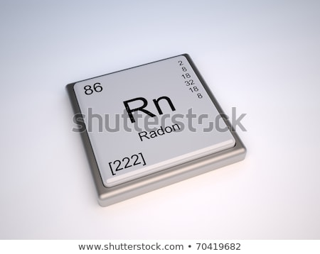 symbol for the chemical element radon stock photo © zerbor