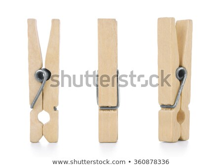wooden clamp isolated on white background Stock photo © marylooo