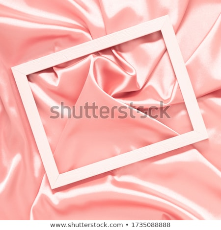 Delicate silk background with frame for photo Stock photo © g215