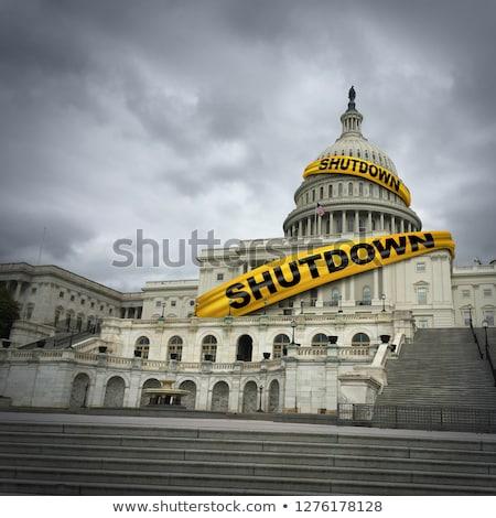 Stock fotó: Closed America