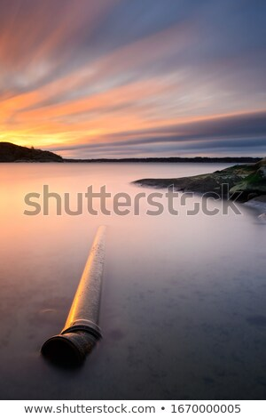 the long pipeline on a countryside Stock photo © rufous