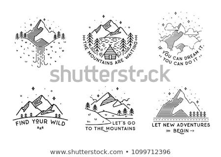 горные штампа икона альпинизм тип Сток-фото © raphicus