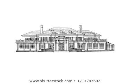 Beyaz sömürge ev erken Sri Lanka Bina Stok fotoğraf © Hofmeester
